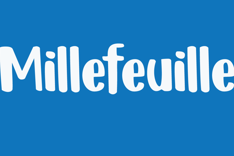 DK Millefeuille Font