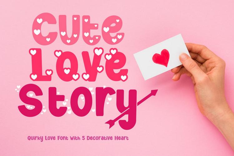 Cute Love Story Font