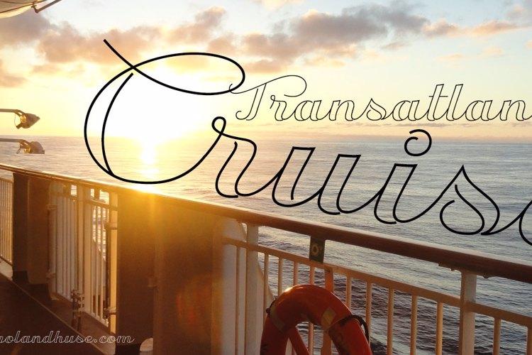 Transatlantic Cruise Font
