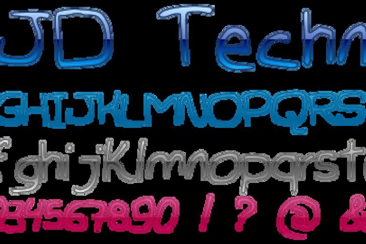 JDTechno Font
