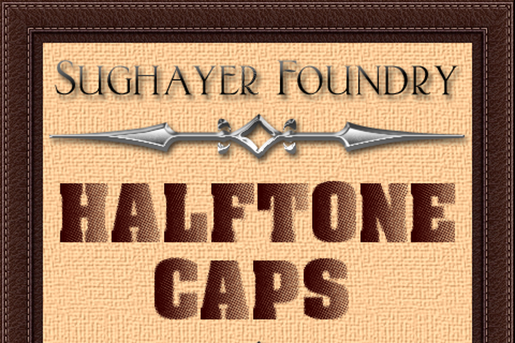 Halftone CAPS Font