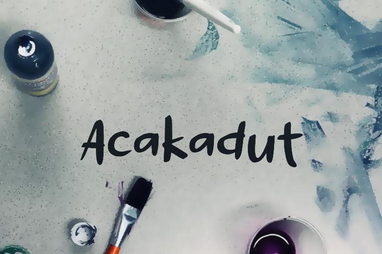 a Acakadut Font