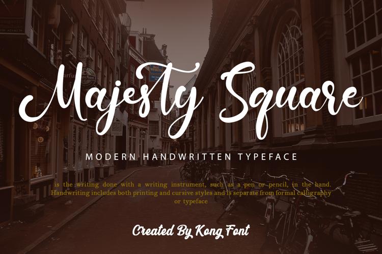 Majesty Square Font