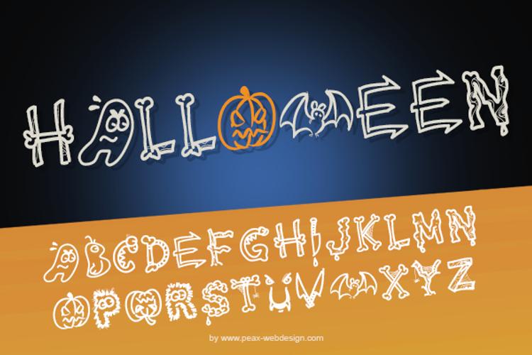 PW HALLOWEEN Font
