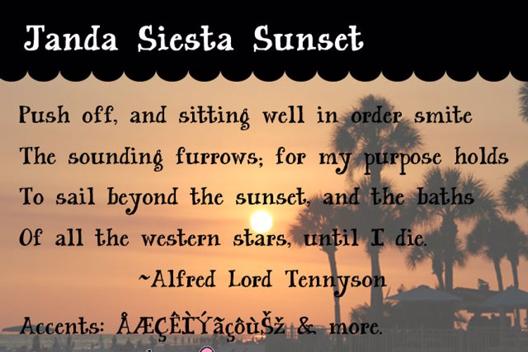 Janda Siesta Sunset Font