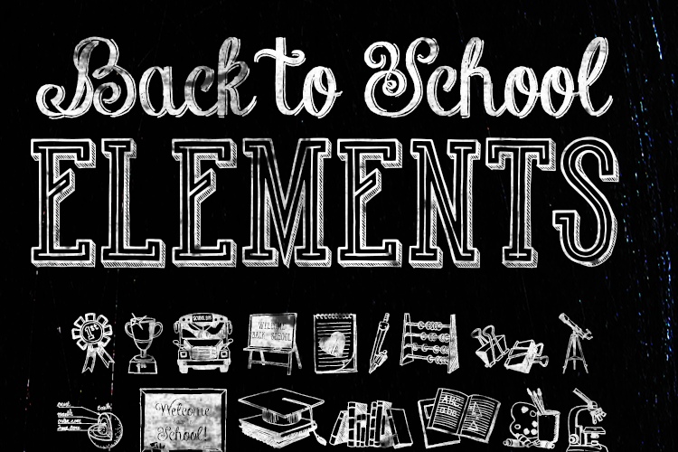 Back to School Elements Font