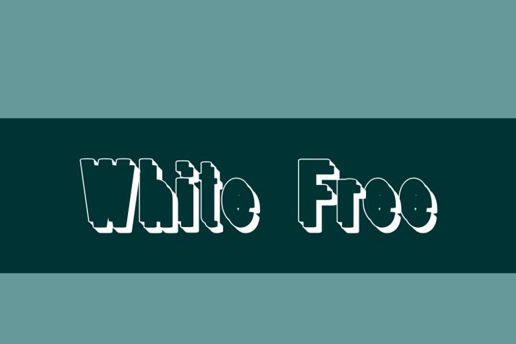 White Free Font