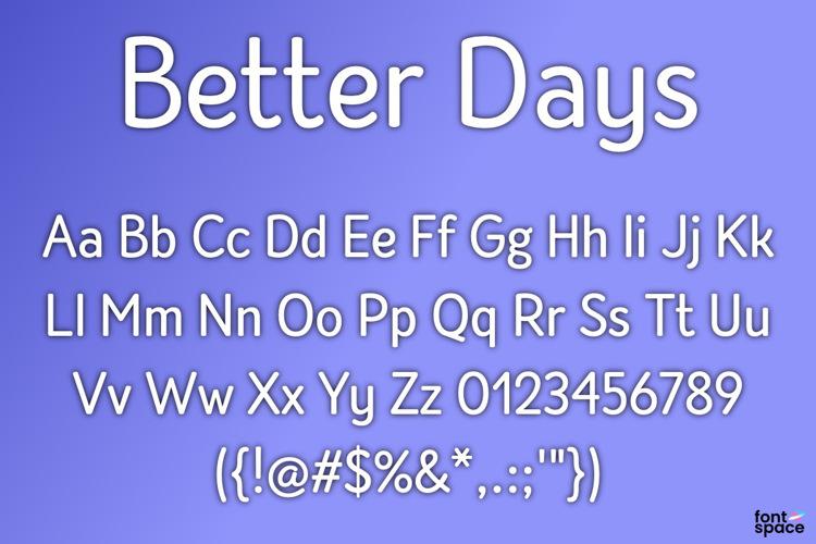BB Better Days Font