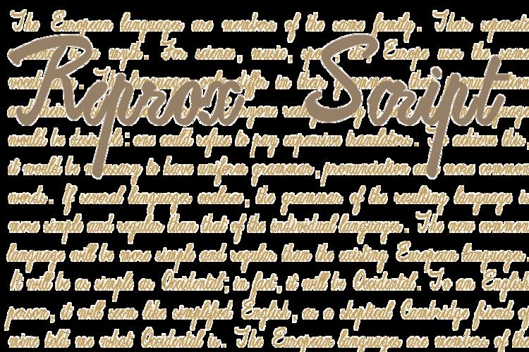 ReproxScript Font