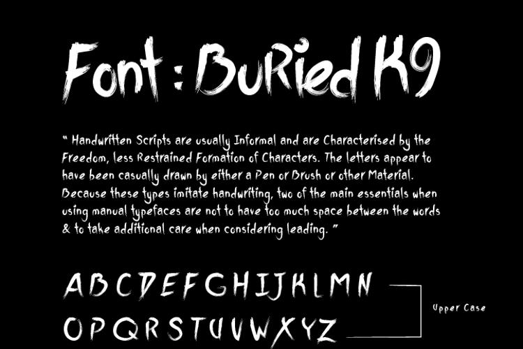 BuriedK9 Font