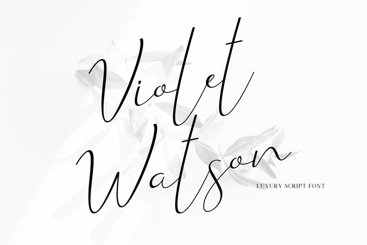 Violet Watson Font