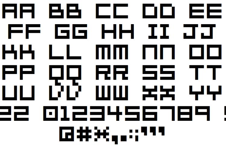 7px2bus Font