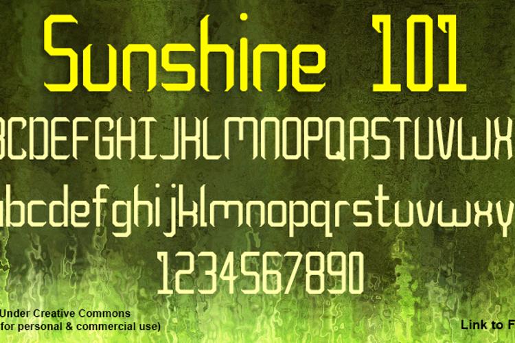 Sunshine 101 Font