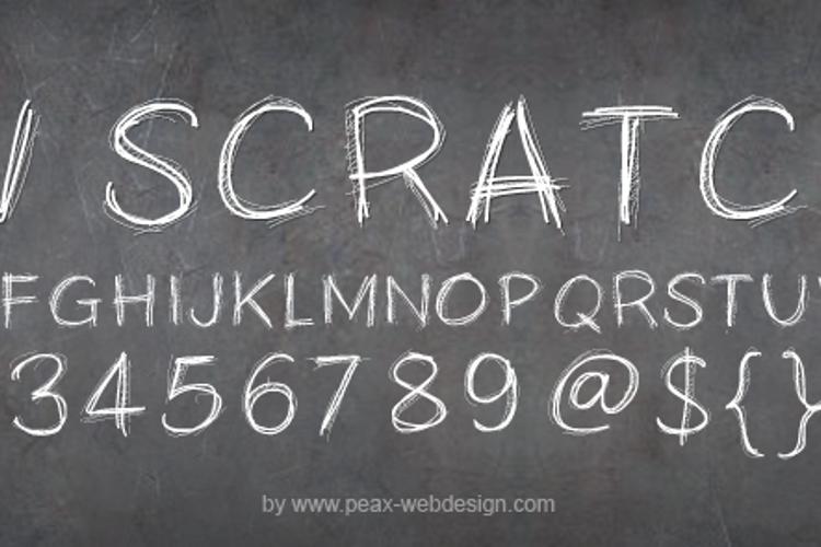 PWScratchy Font