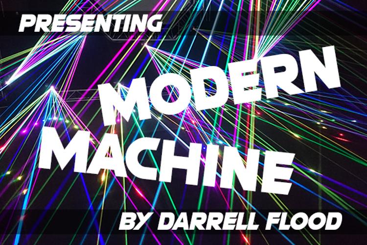 Modern Machine Font