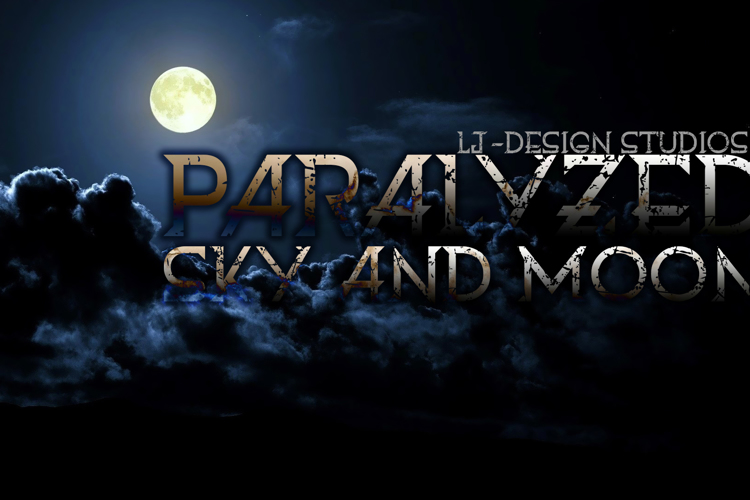 Paralyzed sky and moon Font