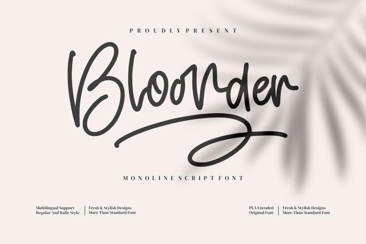 Bloonder Font