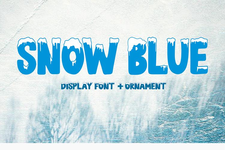 SNOW BLUE Font