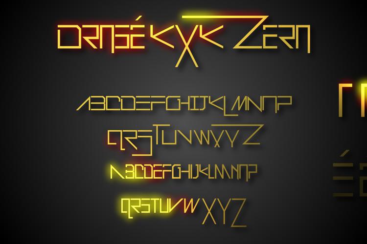Drosé KXK Zero Font