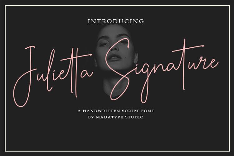 Julietta Signature Font