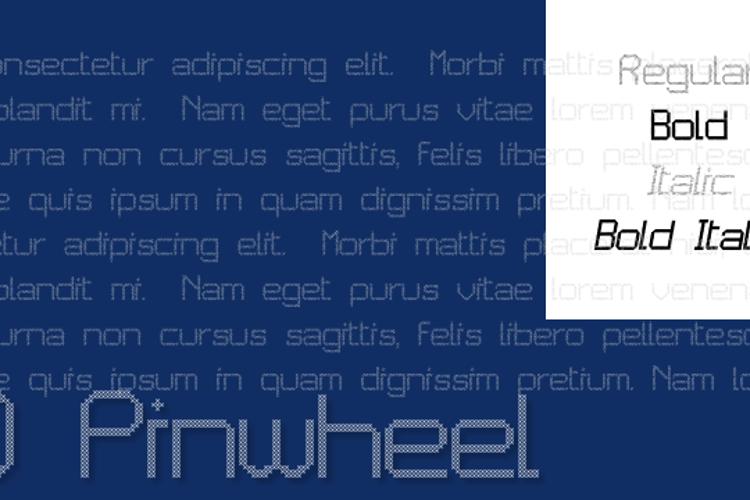 JD Pinwheel Font