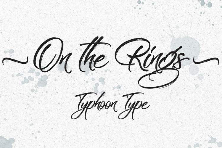 On the Rings Font
