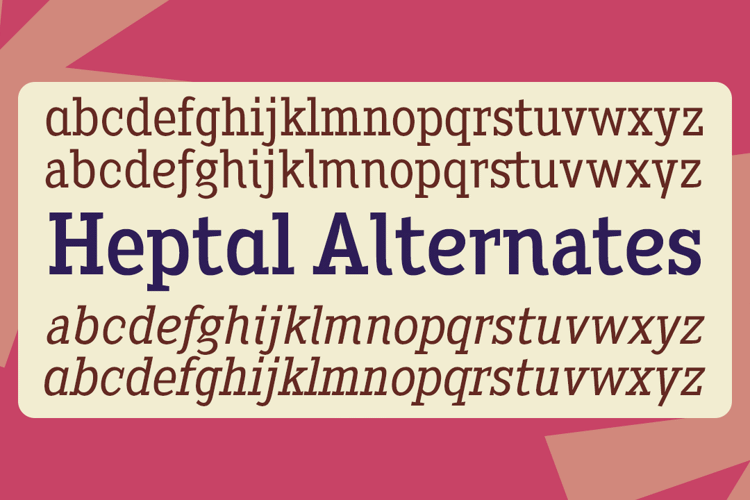 Heptal Font