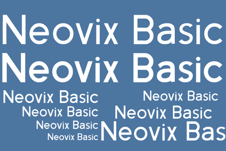 Neovix Basic Font