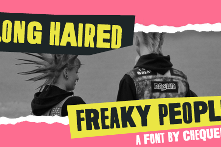 Long Haired Freaky People Font