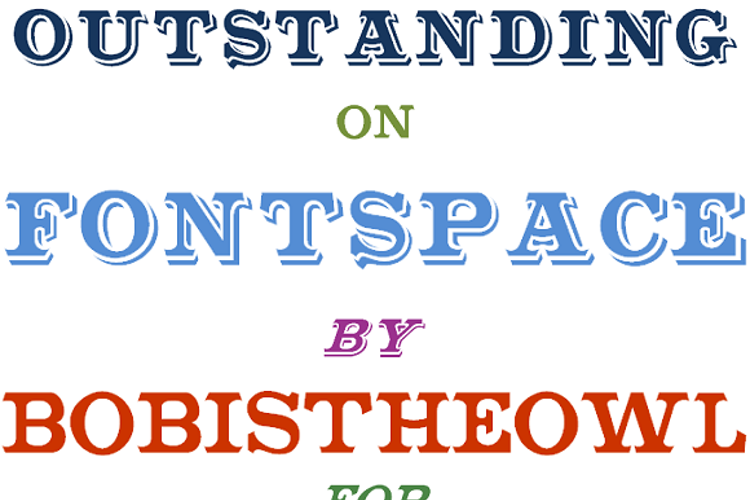 Outstanding Font