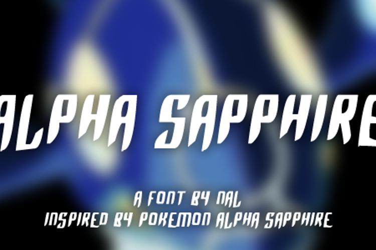 Alpha Sapphire Font