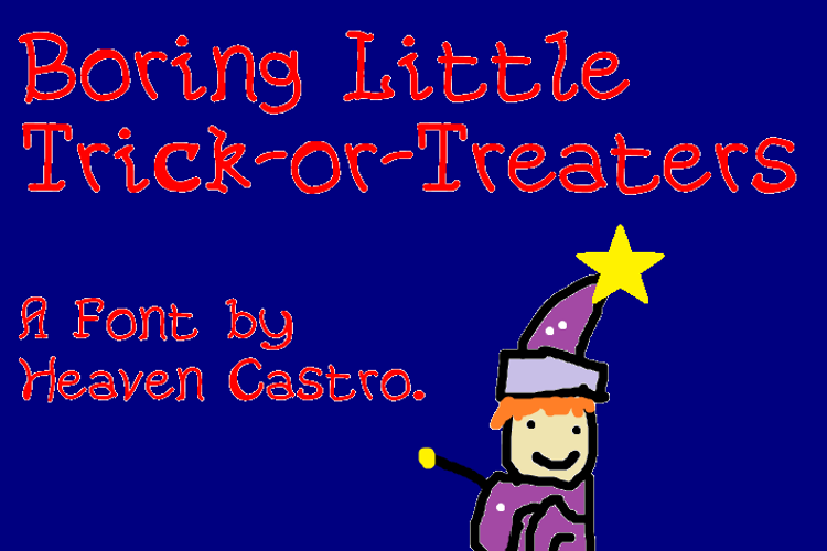 Boring Little Trick-or-Treaters Font