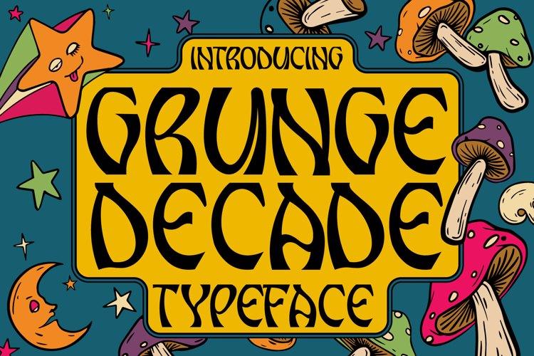 Grunge Decade Font