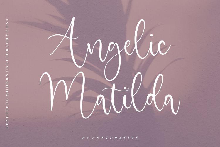 Angelic Matilda Font