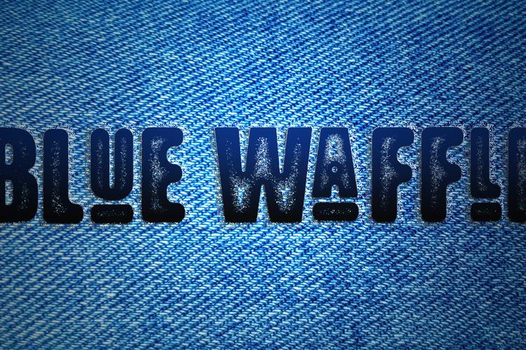 Blue Waffle Font