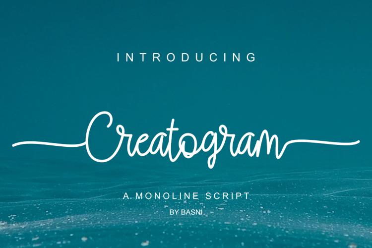 Creatogram Font