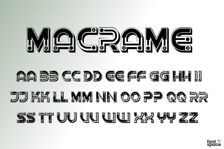 Macrame Font