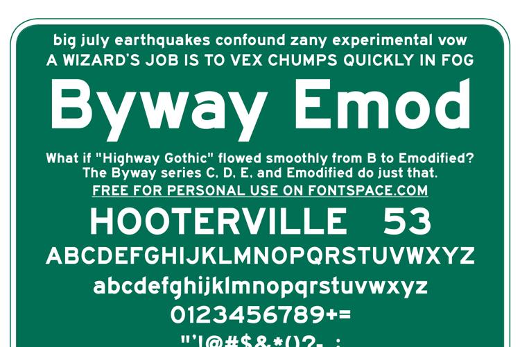 BywayEMod Font
