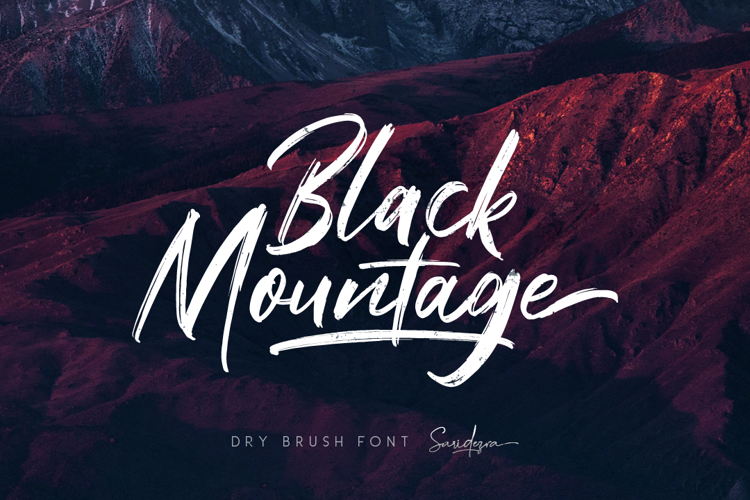 Black Mountage Regular Font