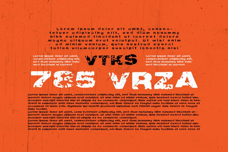 Vtks 785 VRZA Font