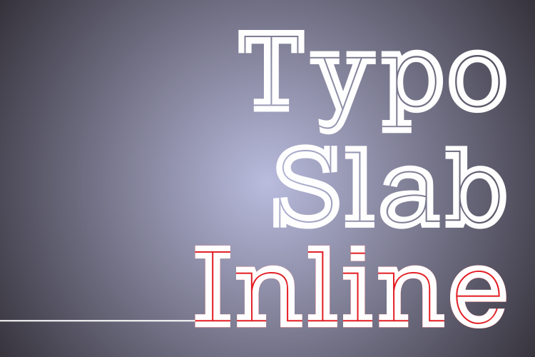 Typo Slab Inline Demo Font