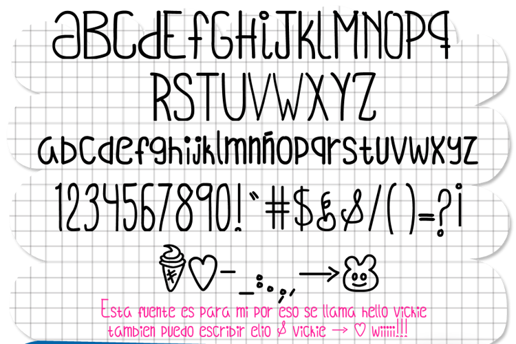 Oh_Hello_Vickie Font
