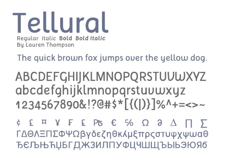 Tellural Font
