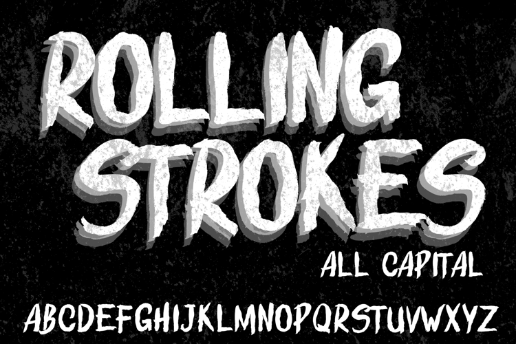 ROLLING STROKES  DEMO Font