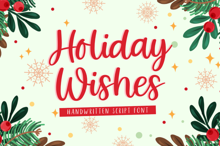 Holiday Wishes Font