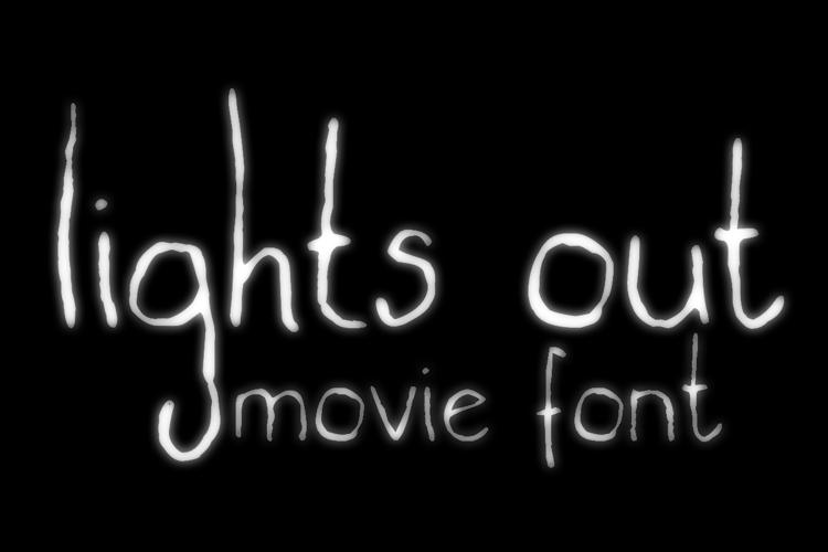 lights out Font