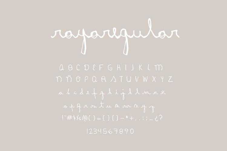 Rayairregular Font