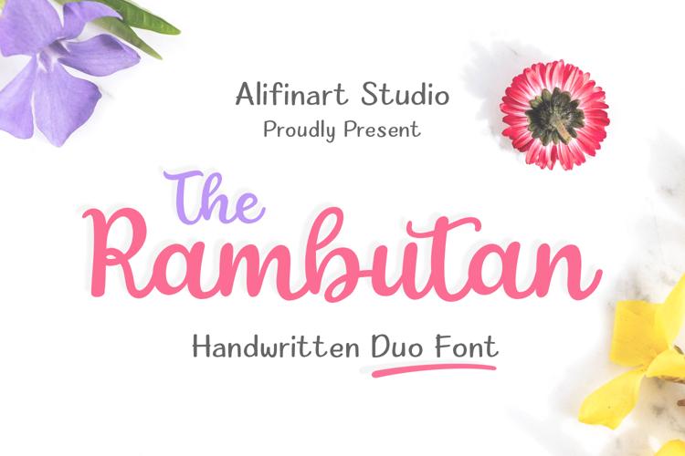 The Rambutan Font
