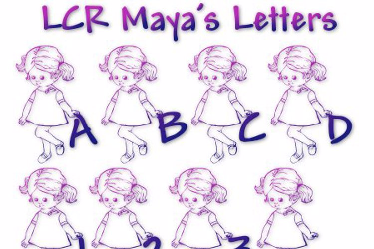 LCR Maya's Letters Font