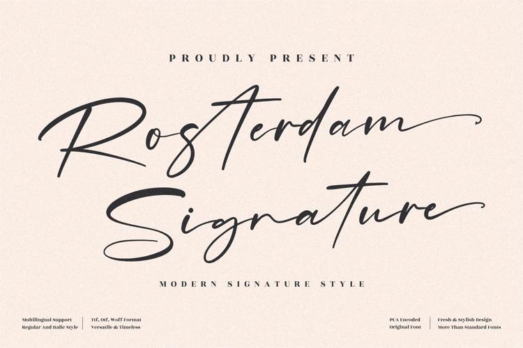 Rosterdam Signature Font
